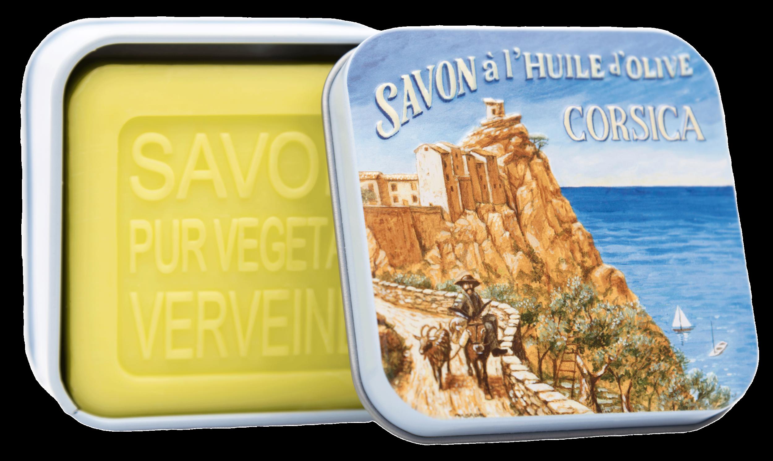 Boîte Métal Côte Corse & Savon 100g