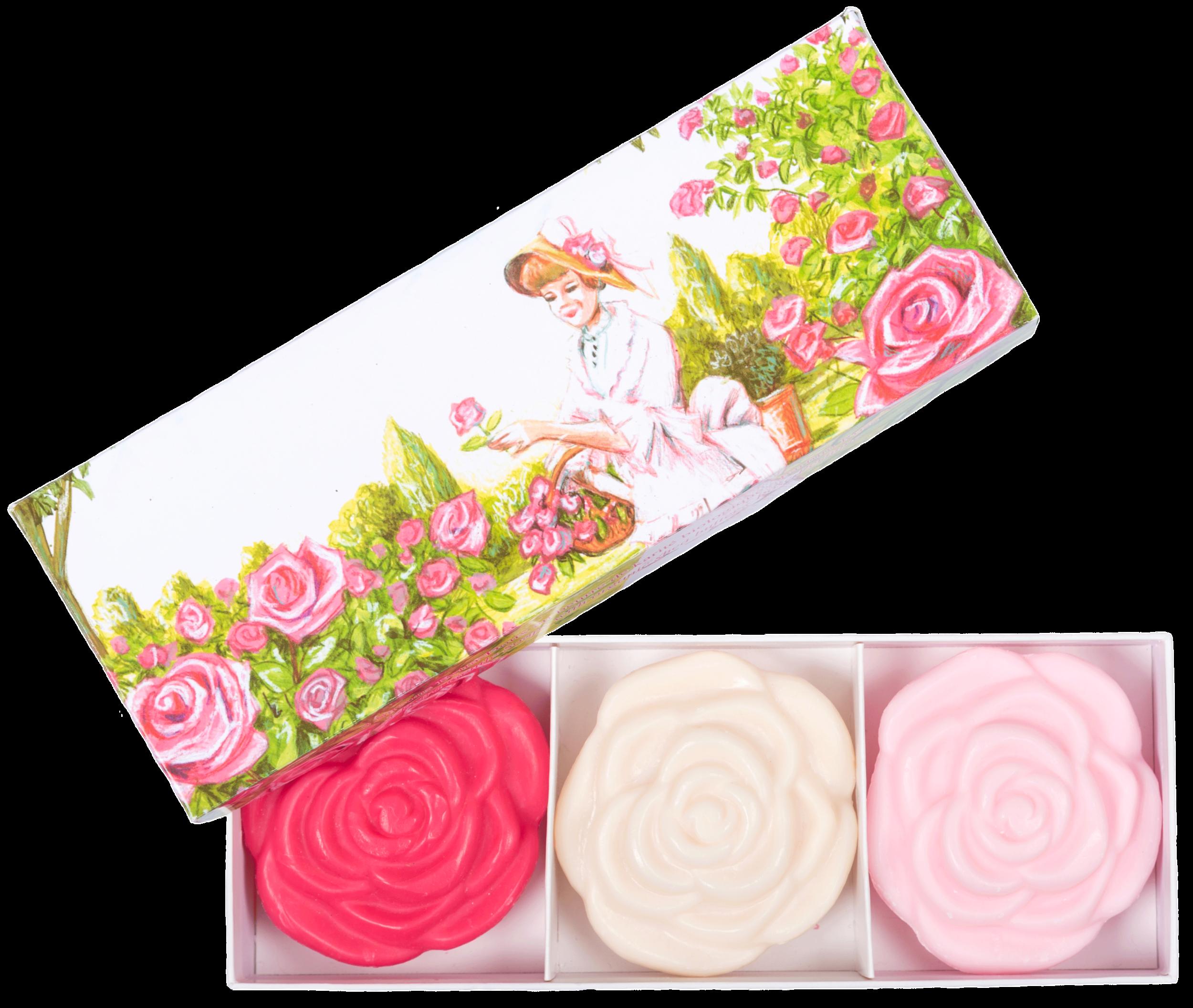 Lot de 3 Savons Roses 100 g