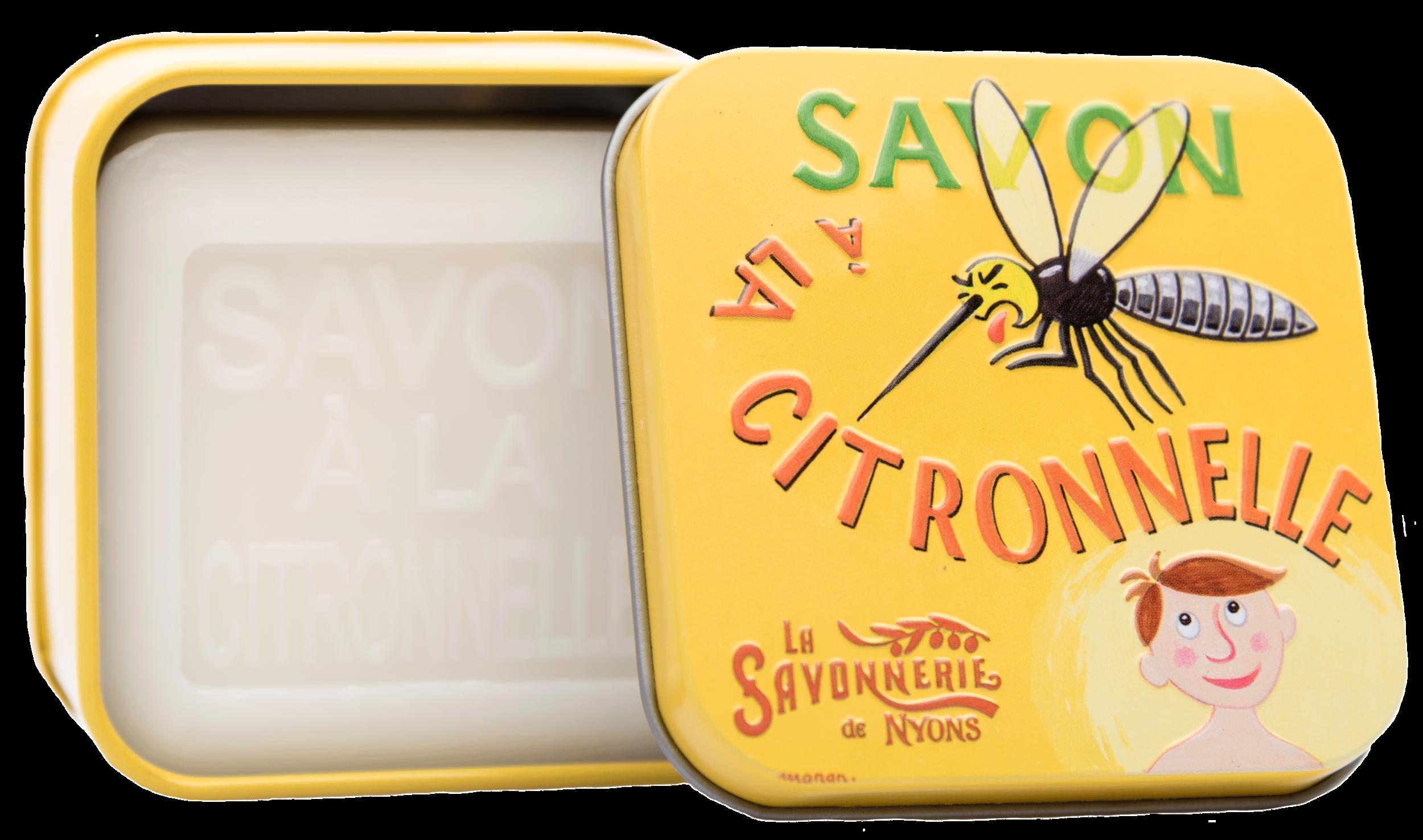 Boîte Métal & Savon à la Citronnelle 100g