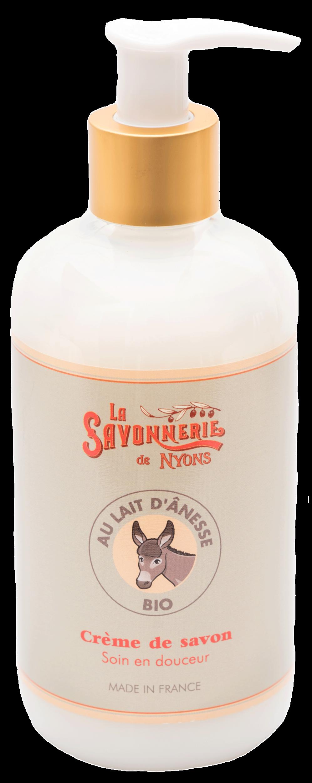 Crème de savon au lait d\'ânesse BIO