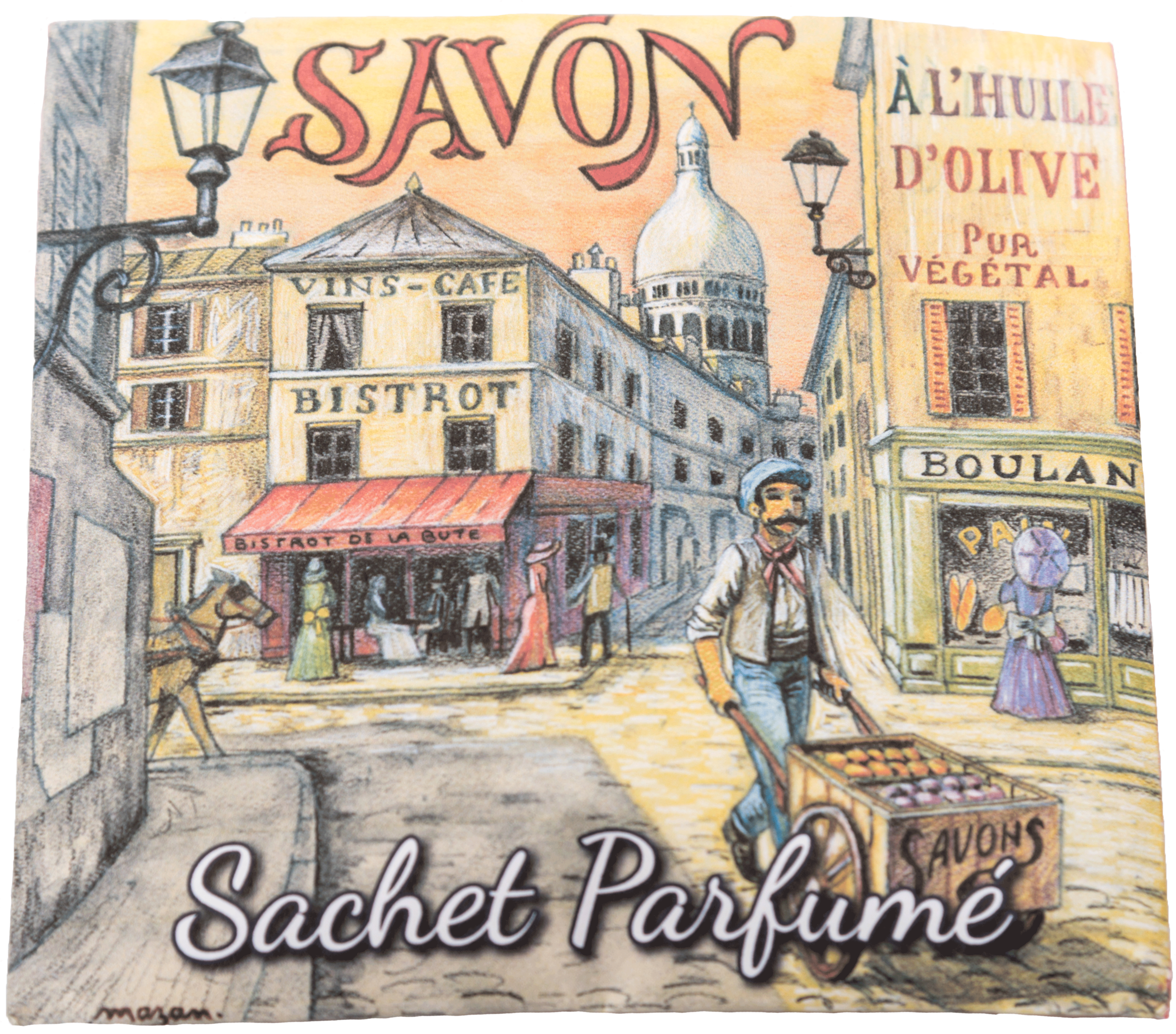 Sachet parfumé Paris Montmartre à la rose de mai