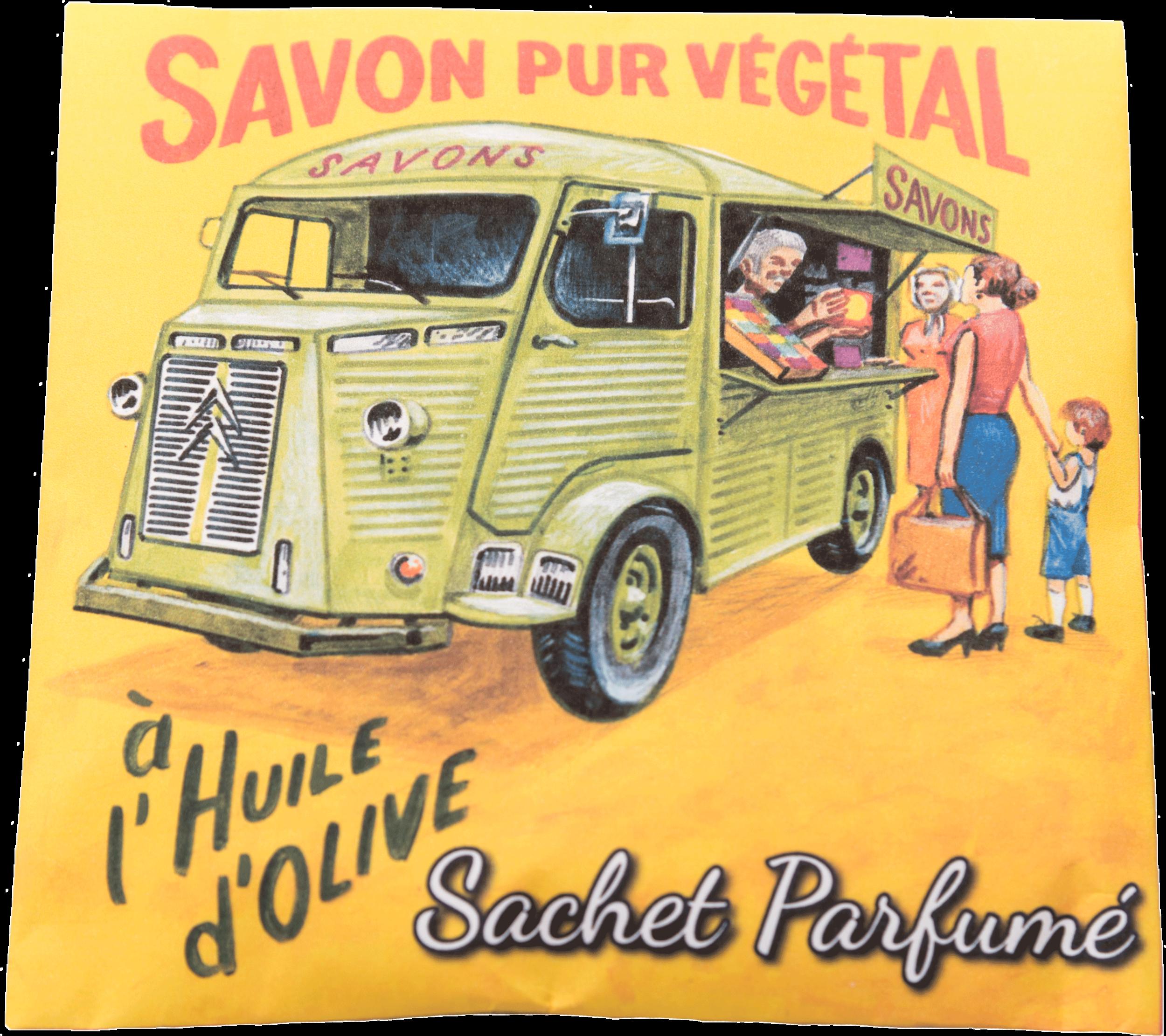 Sachet parfumé Camionnette Fleur de Coton