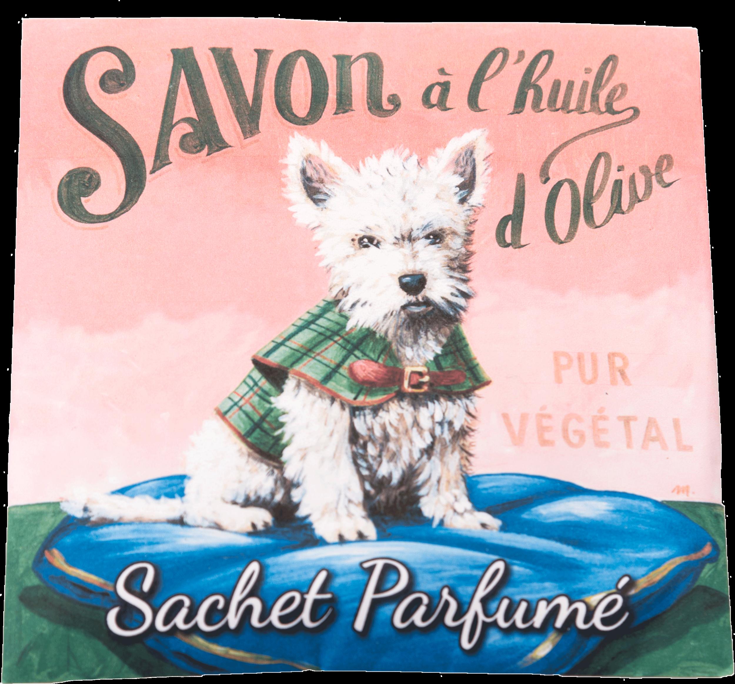 Sachet Parfumé Chien Westie - Senteur Angélique