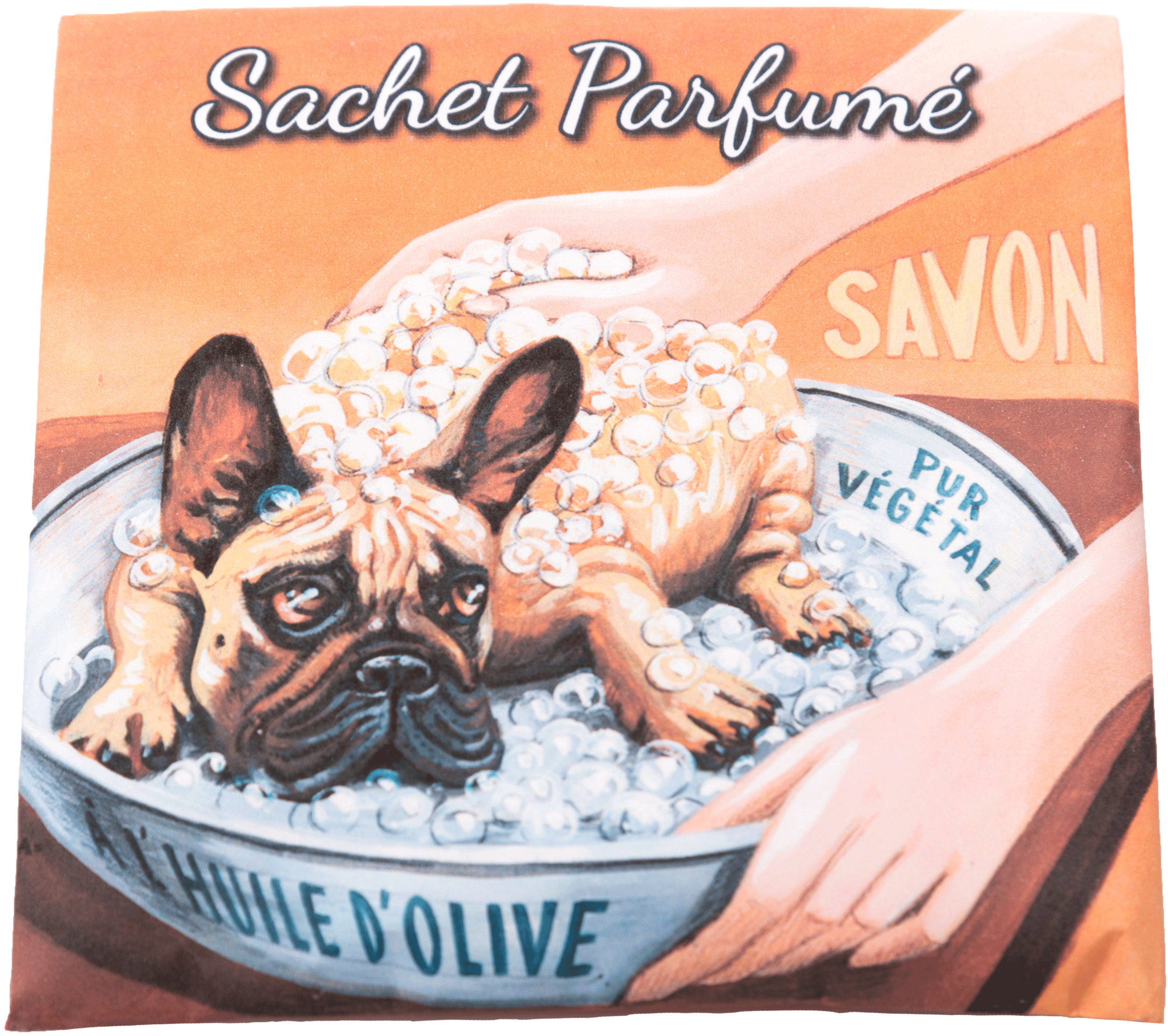 Sachet parfumé Chien bulldog senteur angélique