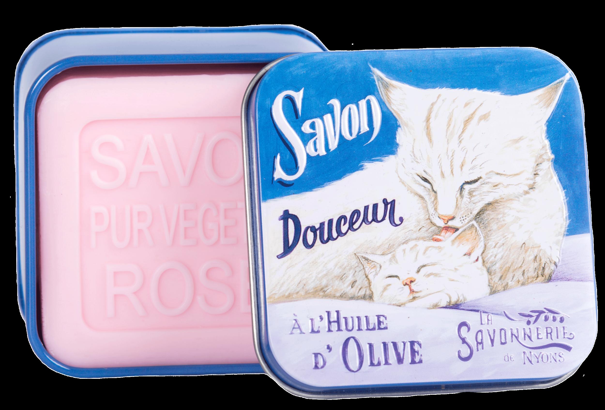 Boîte Métal Chat & Chaton & Savon 100 g