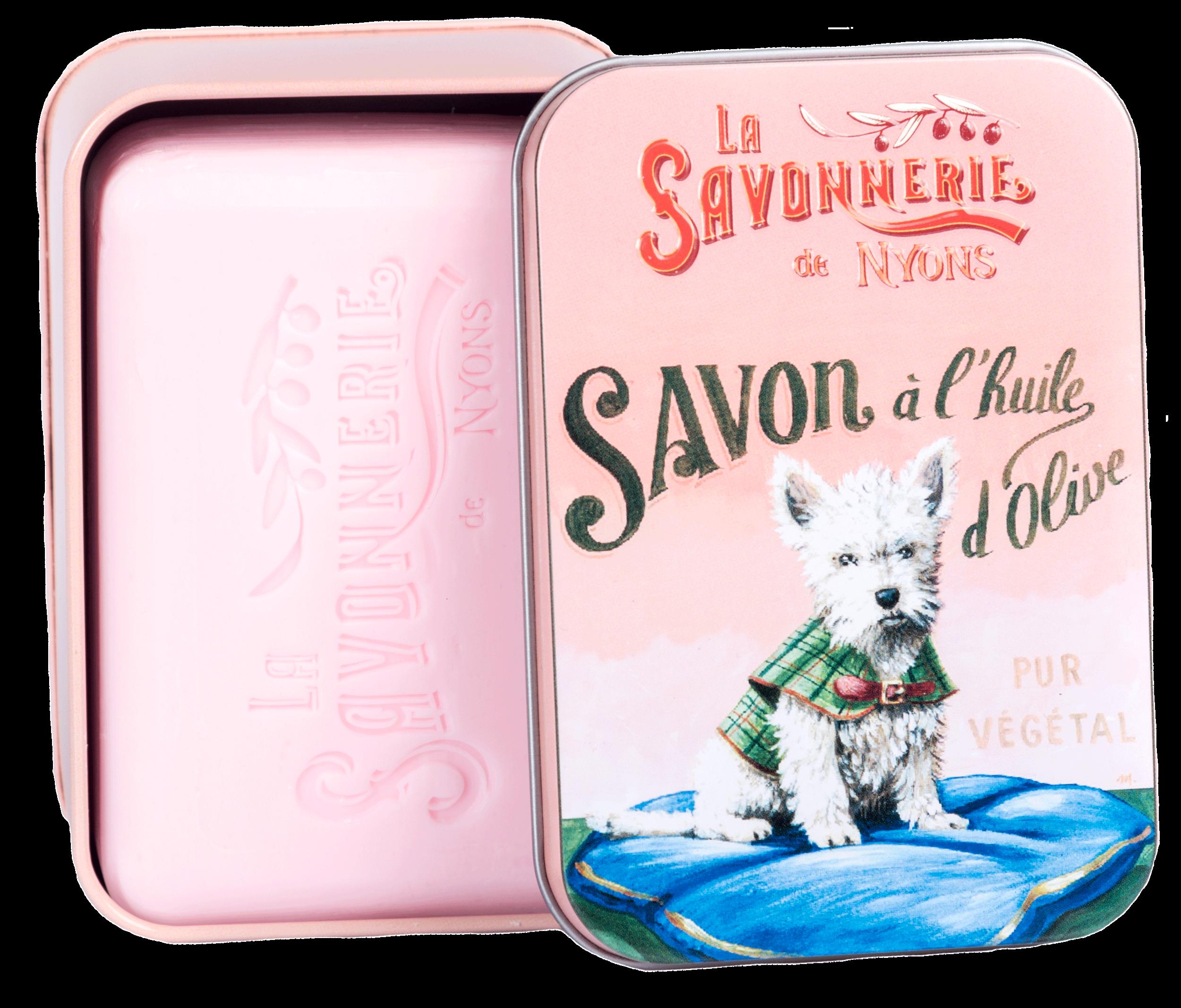Boîte Métal Chien Westie & Savon 200 g