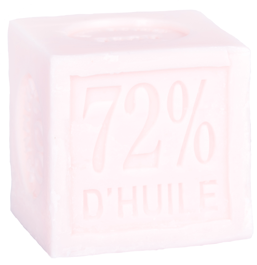 Cube savon de Marseille 100 g Rose