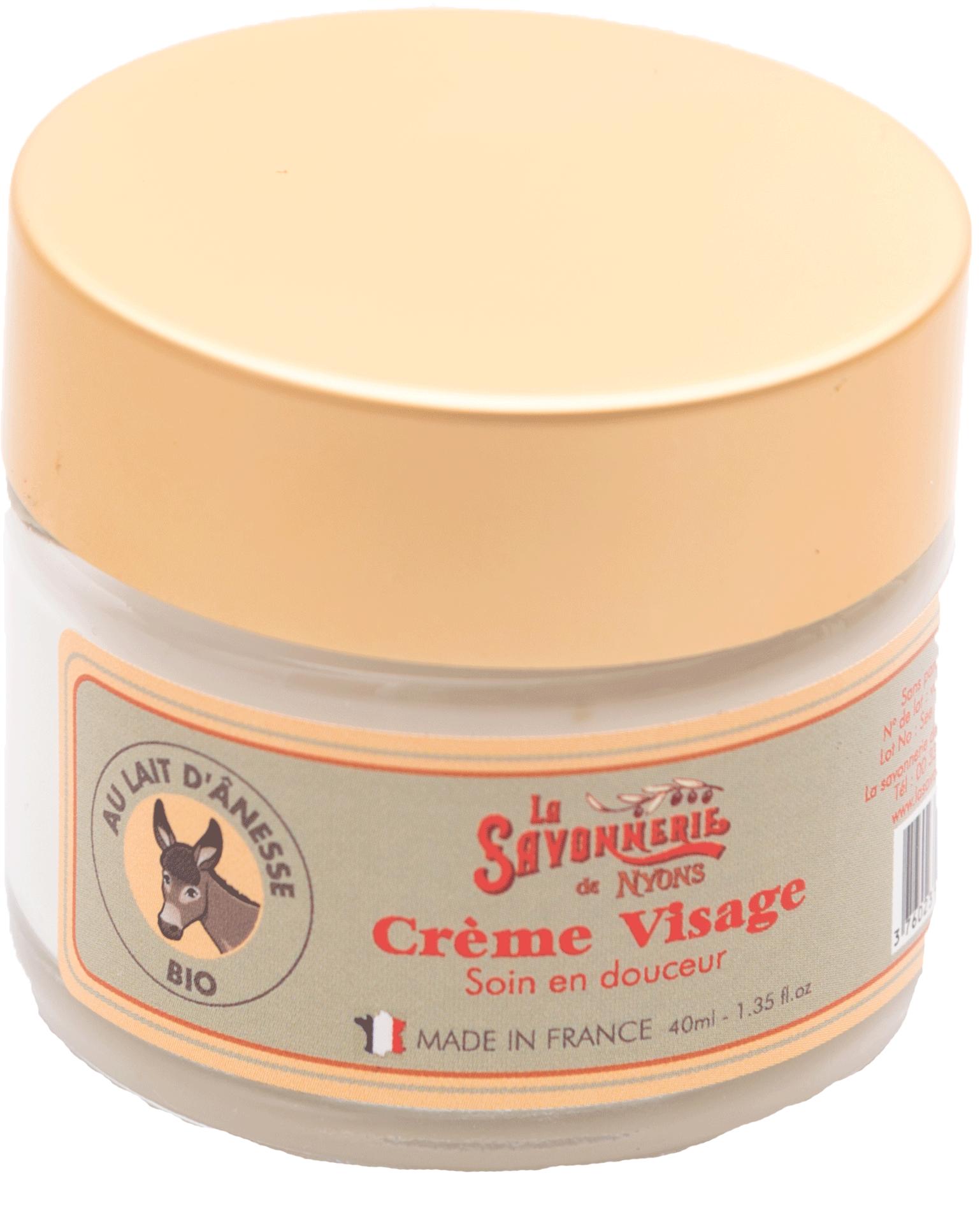 Crème visage au lait d\'ânesse BIO