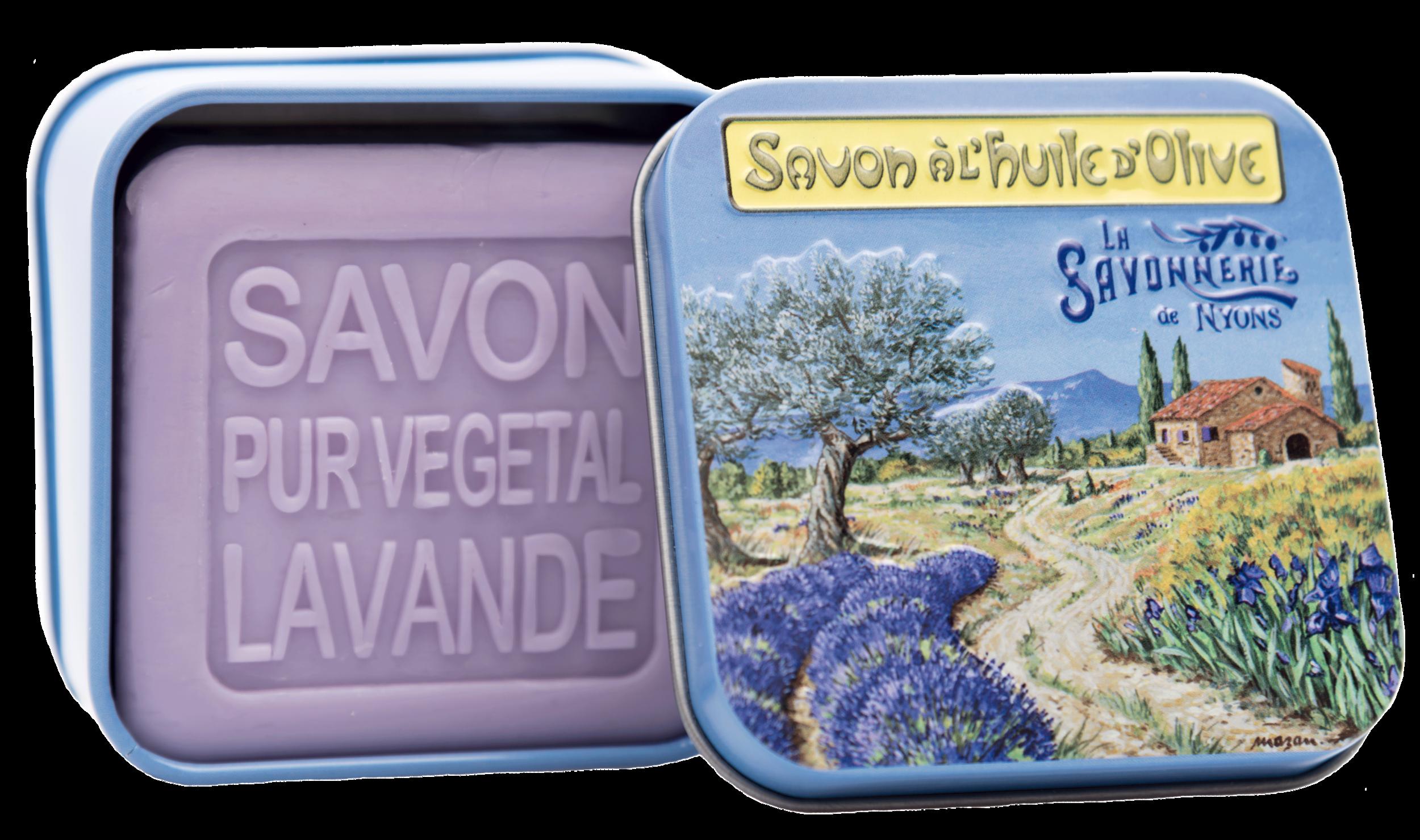 Boite Métal Provence & Savon 100 g