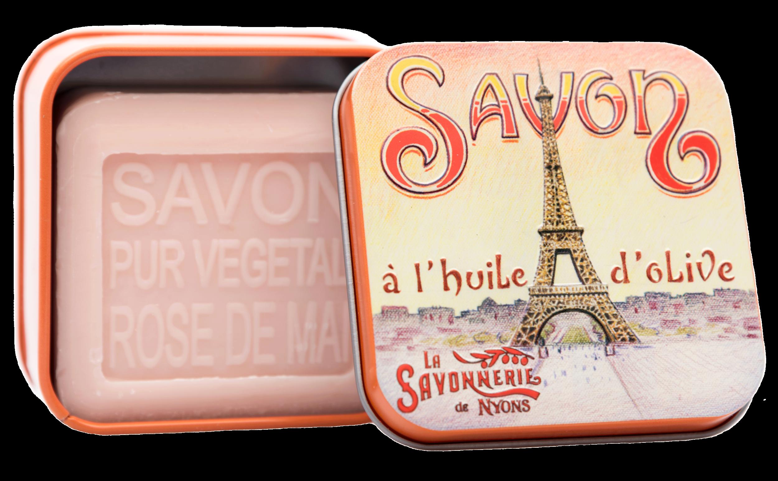 Boite Métal La Tour Eiffel & Savon 100g