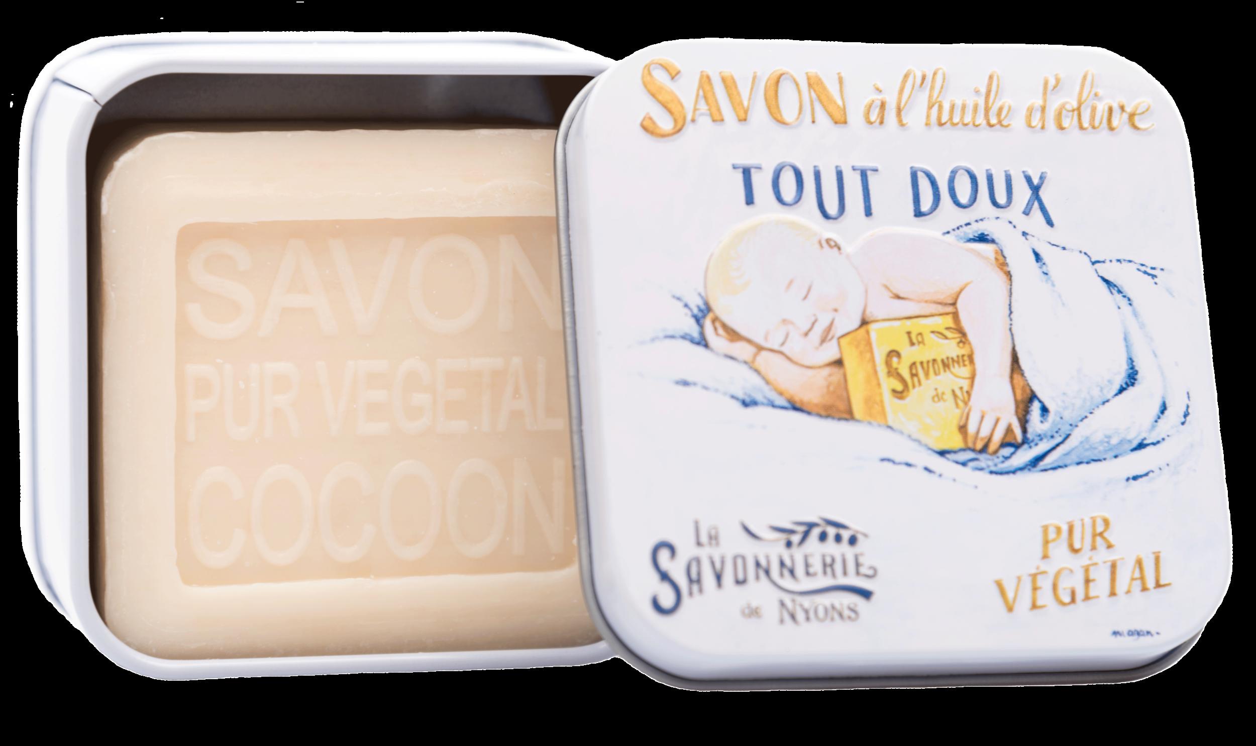 Boite Métal Bébé Douceur & Savon 100 g