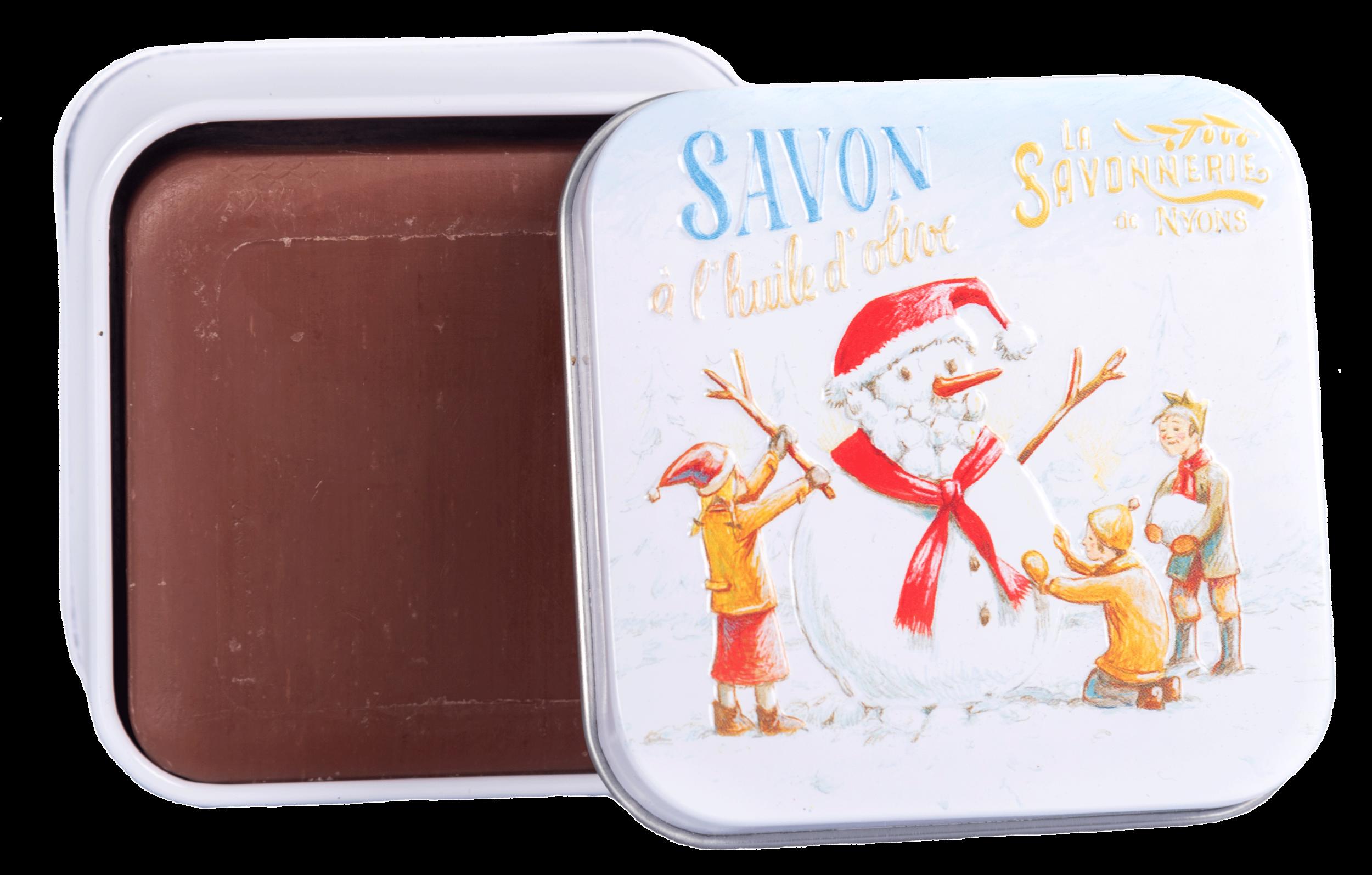 Boîte Métal 100 g Bonhomme de Neige