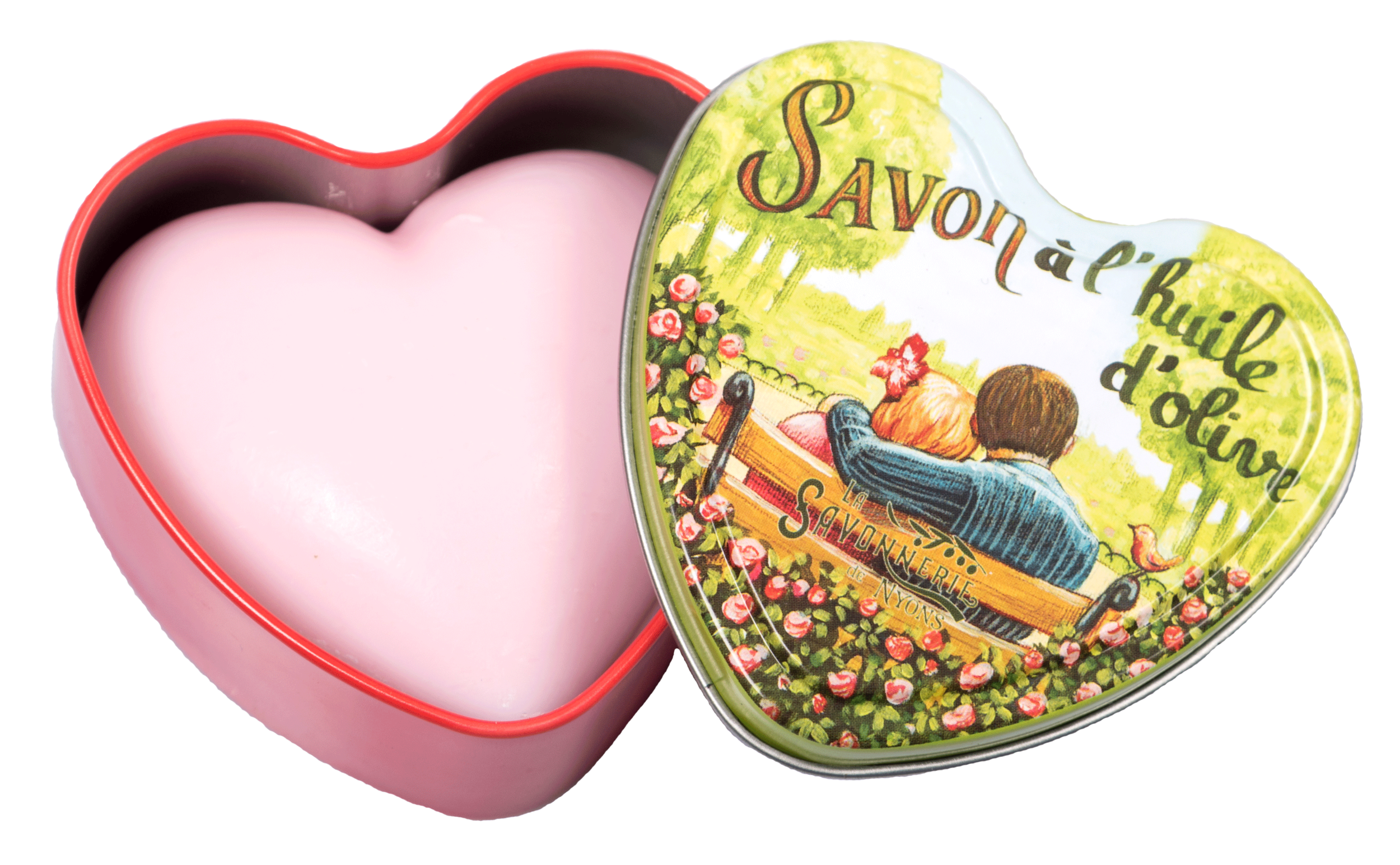Boîte Métal Cœur & Savon 100 g