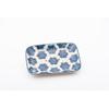 Porte Savon Pattern Rectangle Bleu