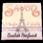 Sachet parfumé Paris Tour Eiffel à la rose de mai
