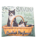 Sachet parfumé Chat noir & blanc senteur angélique
