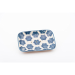 Porte Savon Pattern Rectangle Bleu