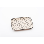 Porte Savon Pattern Rectangle Noir