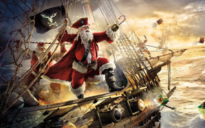 Ships-Pirates-Fantasy-Art-Santa-Claus-Gifts-Canon-Sea-1