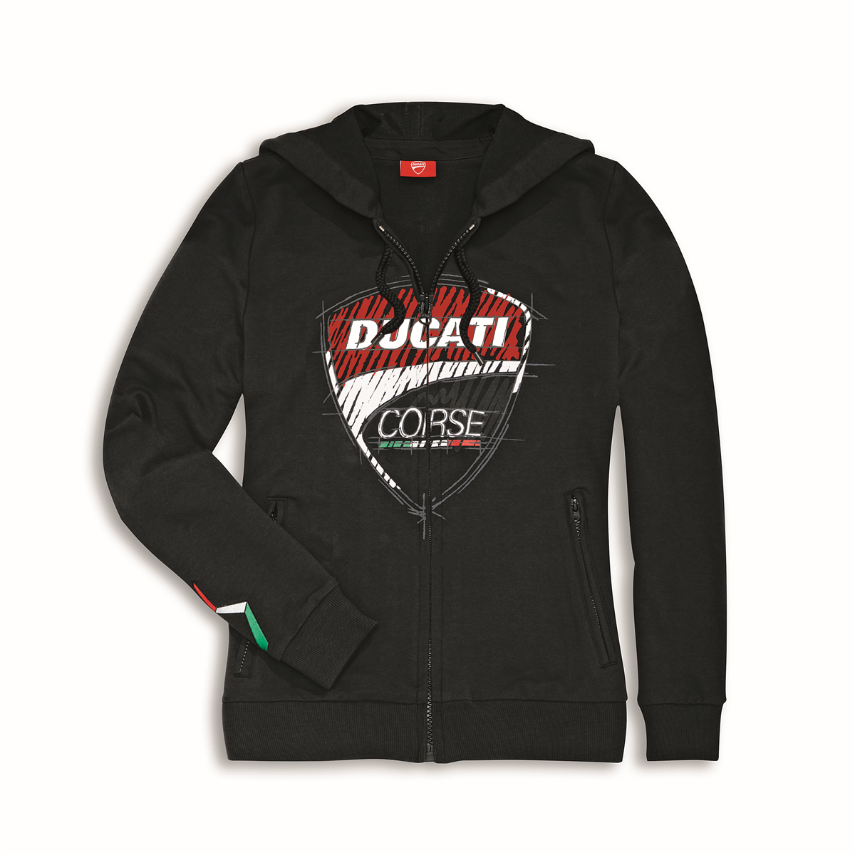 info pour 365f1 efd09 Sweat zippé à capuche Ducati Corse Sketch Femme