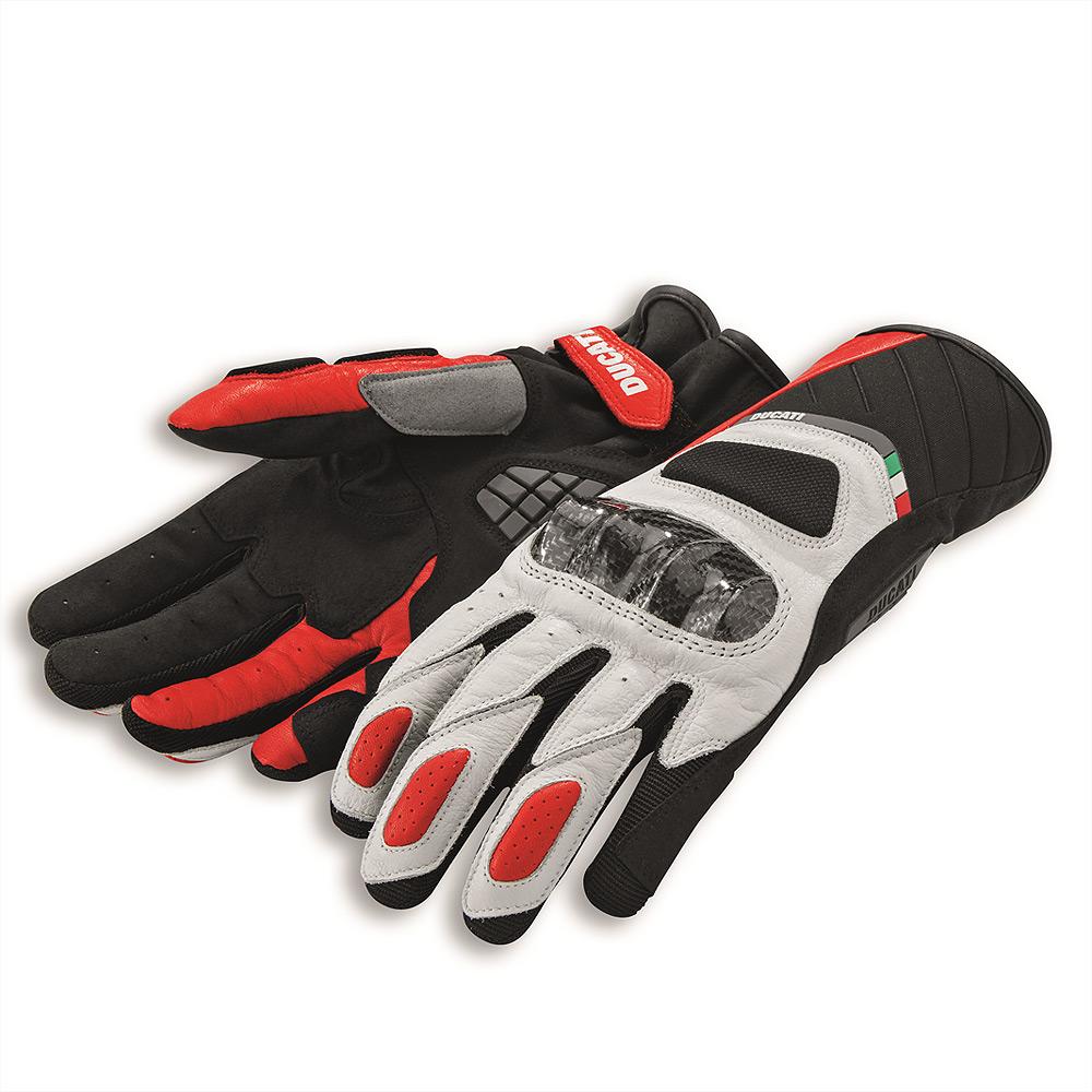 gants ducati sport c3 blanc rouge gants moto cuir et textile. Black Bedroom Furniture Sets. Home Design Ideas