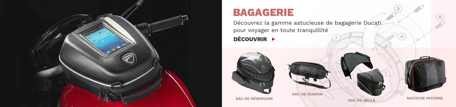 Bagagerie Moto Ducati