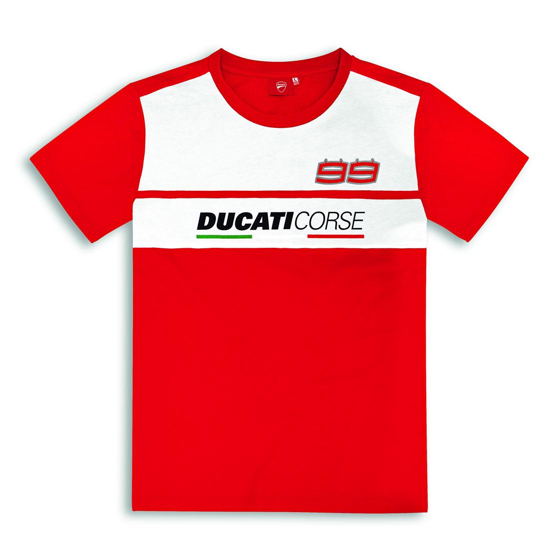 T-shirt Tee DUCATI Corse Motogp Lorenzo 99 Homme Vélo Moto Noir Nouveau!