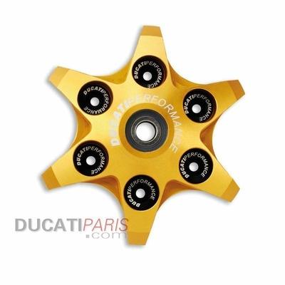 Plaque presse-disque embrayage radiale alu CNC Jaune