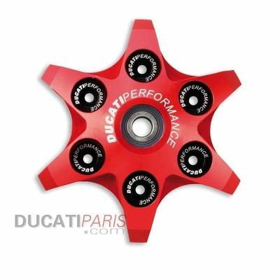 Plaque presse-disque embrayage radiale alu CNC Rouge