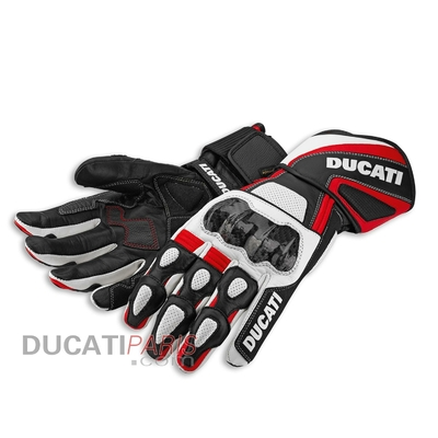 Gants en cuir Ducati Performance 14 Blanc/Rouge
