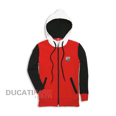 Sweat zippé à capuche Ducati Corse 13 pour enfant