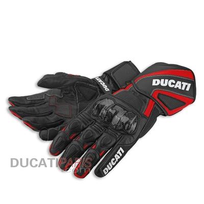Gants en cuir Ducati Performance 14 Noir/Rouge