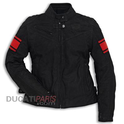 Blouson en cuir Ducati Classic C2 Noir Femme