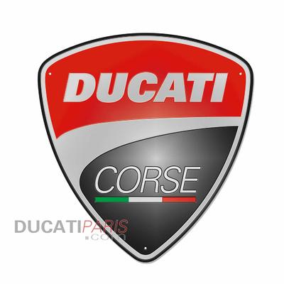 Enseigne en métal Ducati Corse