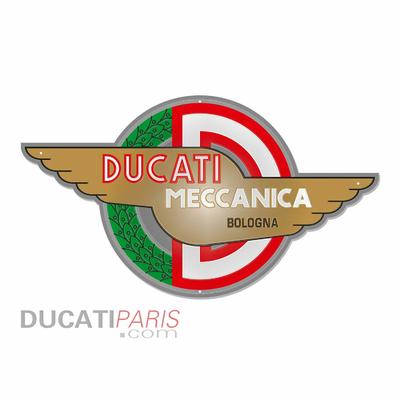 Enseigne en métal Ducati Meccanica