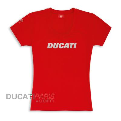T-shirt Ducatiana rouge pour Femme