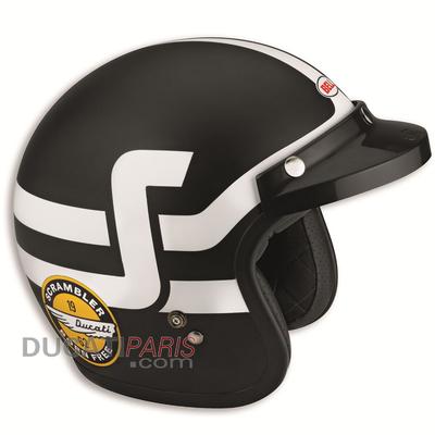 Casque jet Ducati Scrambler Short Track Noir/Blanc