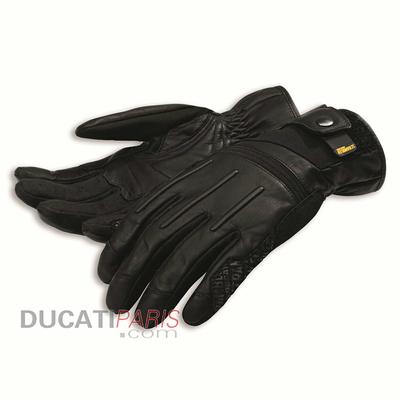 Gants en cuir Ducati Scrambler Street Master C2 Noir