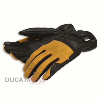 Gants en cuir Ducati Scrambler Street Master C2 Noir/Jaune