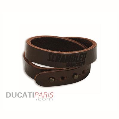 Bracelet en cuir Ducati Scrambler Head Logo