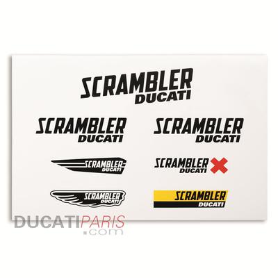 Autocollants Ducati Scrambler Multi Logo
