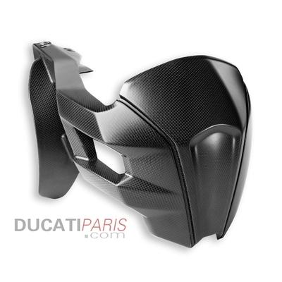Bavette de protection arrière en carbone Multistrada Mat