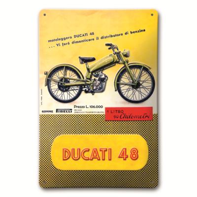 Plaque en métal Ducati 48