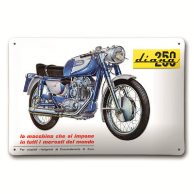 Plaque en métal Ducati Diana 250
