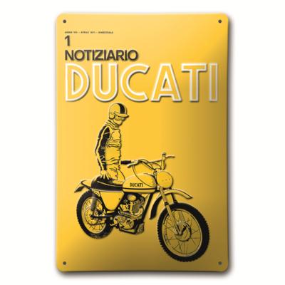 Plaque en métal Ducati Notiziario