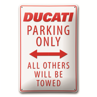 Plaque en métal Ducati Parking