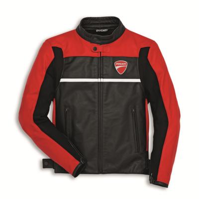 Blouson en cuir Ducati Company C2 Rouge