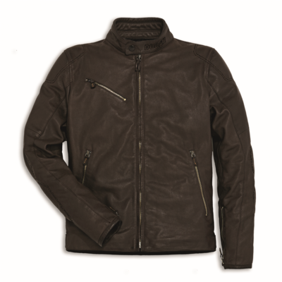 Blouson en cuir Ducati Downtown C2 Marron