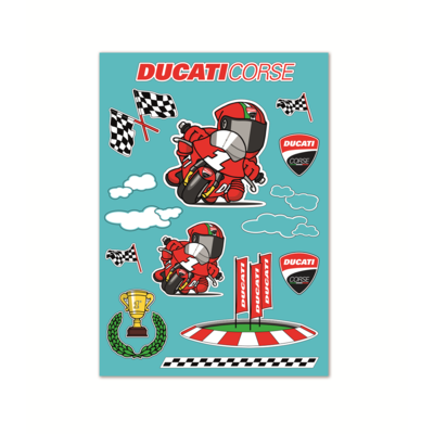 Autocollants Ducati Cartoon