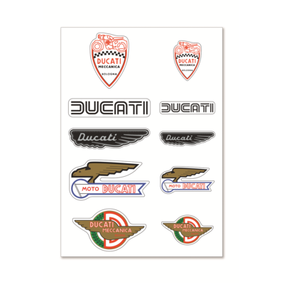 Autocollants Ducati Historical Mix